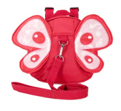Xiaoyu Baby Butterfly with Wings Walking Safety Harness Reins Toddler Child Kid Strap Backpack Bag, Red