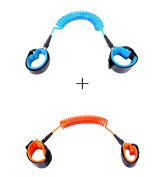 Xiaoyu 2 Colours Baby Anti-lost Belt, 360 Degree Rotation, Child Walking Safety Toddler Harness, Blue & Orange, 2.5MM