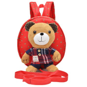 Baby Toddler Walking Safety Backpack Little Kid Boys Girls Anti-lost Harness Reins Cute Bear Mini Backpacks with Safety Leash (Size B