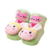 Besde Baby Shoes Cartoon Newborn Baby Girls Boys Anti-Slip Socks Boots