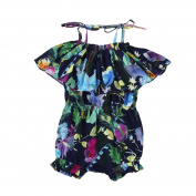 For 12M-3T, UMFun Infant Baby Girls Floral Print Sleeveless Clothes Jumpsuit Outfits