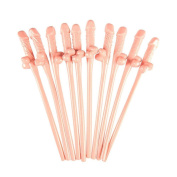 Party Straws, UMFun 10Pcs Hen Party Bar Willy Straws Party Phallus Girls Night Out Accessories Straws