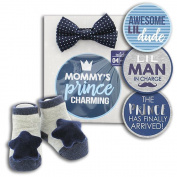Baby Boy Prince Belly Sticker Milestone Photo Prop Gift Set by Rising Star