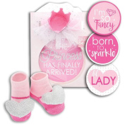 Baby Girl Princess Belly Sticker Milestone Photo Prop Gift Set by Rising Star