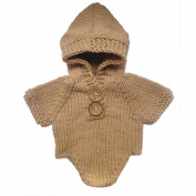 Tueenhuge Baby Photo Props Girls Boys Knit Baby Hooded Romper Outfits Costume for 0-2Months