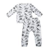 TRENDINAO Newborn Boys Girls Dinosaur Clothes Set Long Shirt + Pants
