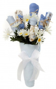 Nikki's New Baby Blossom Clothing Bouquet Gift (Blue or Pink)