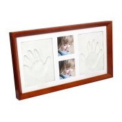 Newborn Babyprints Kit, Clay Baby Handprint and Footprint Photo Frame Keepsake,Unique Gift Idea for Infants, Boys and Girls