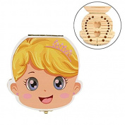 Tooth Box Organiser RrQuickies Baby Milk Tooth Keepsake Wood Storage Box Teeth Hair Save Box