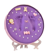 Baby Hands And Feet Ink Hand And Foot Print Souvenirs, Pink Box Purple Mud