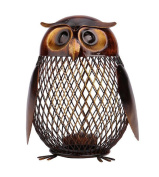 YABINA Metal Owl Piggy Bank, Makes a Perfect Unique Gift, Nursery Décor, Keepsake, or Savings Piggy Bank for Kids