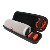 for JBL Charge 3 - Portable Bluetooth Waterproof Speaker.Fits USB Cable and Wall Charger Hard Case Bag by VIVENS