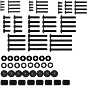 WALI WL-UVSP Universal TV Mounting Hardware Kit includes M4 M5 M6 M8 TV Screws & Spacer Fit Most TVs up to 200cm Black