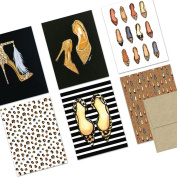 72 Note Cards - Shoes Galore - Blank Cards - Kraft Envelopes Included