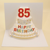 Forever Handmade Cards - Pop Up Laser Cut Card 85th Birthday POP92