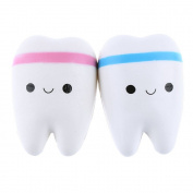 YiGooood 1 PCS random colour 11cm Cute Teeth Soft Squishy Phone Charms Super Slow Rising Ballchain Kid Toy