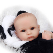 Justtoyou Soft Silicone Reborn Baby Doll Silicone Baby That Look Real Doll with Real Baby 46cm Doll clothes