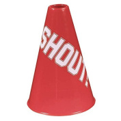 """Amscan Sports Party Noisemakers Plastic Megaphones, Red, 5.6 x 5.6"""""""