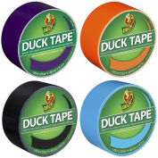 Bulk Buy 4 Different Solid Colour Rolls of Duck Brand Duct Tape Bundle - 75 Total Yards