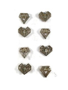 Gold Diamond Metal Brads Paper Fasteners for Scrapbooking and Card Making