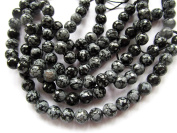 "Whoelsale 2strands 16"" Round Snowflake Obsidian Beads Jewellery making Beads disco matte stone 4\6\8\10mm"