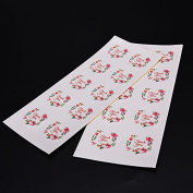 SQingYu 100pcs Flower Design Thank You Stickers, 3.5cm Sticker Paper Labels Seals For Gifts Wedding Parties