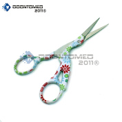 OdontoMed2011 11cm STAINLESS STEEL SHARP TIP CLASSIC STORK SCISSORS CRANE DESIGN SEWING SCISSORS DRESSMAKER SHEARS SCISSORS FOR EMBROIDERY, CRAFT, NEEDLE WORK, ART WORK & EVERYDAY USE BTS-156