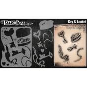 Tattoo Pro Stencils Series 2 - Key & Locket