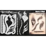 Tattoo Pro Stencils Series 4 - Heart & Tribal