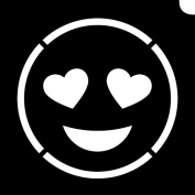 Glimmer Body Art Glimmer Tattoo Stencil - Emoji Lovestruck