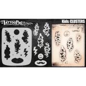 Tattoo Pro Stencils Kids Series - Clusters