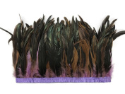 Rooster Tails,1 Yard - 25cm - 30cm Lavender Dyed Over Natural Coque Tails Long Feather Trim (Bulk) Headdress, Costume, Carnival Feather Trim