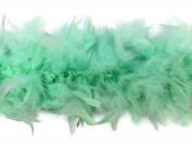 2 Yards - Mint Green Chandelle Feather Boa, 80 Gramme Heavy Weight Boa