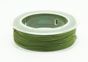 OLIVE GREEN 0.3mm 100% Nylon Twisted Cord Thread Beading Crochet Hand Craft Artisan