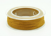 OLD GOLD 0.3mm 100% Nylon Twisted Cord Thread Beading Crochet Hand Craft Artisan