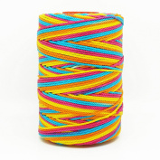 RAINBOW 1mm 100% Nylon Twisted Cord Thread Macrame Beading Crochet Hand Crafts Artisan