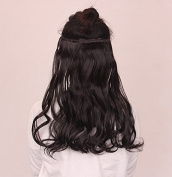 WEIYI Long Curl Curly Wavy Hair Extension Seamless Wigs Clip-on