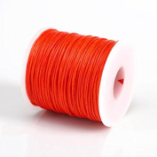ORANGE RED 1MM Thailand Waxed Polyester Cord Macrame Bracelet Thread String - 100yds Spool