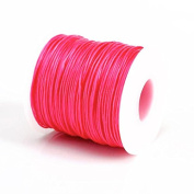 ROSE PINK 1MM Thailand Waxed Polyester Cord Macrame Bracelet Thread String - 100yds Spool