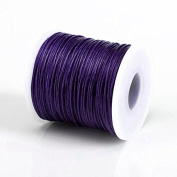 PURPLE 1MM Thailand Waxed Polyester Cord Macrame Bracelet Thread String - 100yds Spool