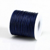 NAVY BLUE 1MM Thailand Waxed Polyester Cord Macrame Bracelet Thread String - 100yds Spool