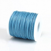LIGHT BLUE 1MM Thailand Waxed Polyester Cord Macrame Bracelet Thread String - 100yds Spool