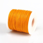 GOLDEN YELLOW 1MM Thailand Waxed Polyester Cord Macrame Bracelet Thread String - 100yds Spool