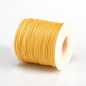 SOFT YELLOW 1MM Thailand Waxed Polyester Cord Macrame Bracelet Thread String - 100yds Spool