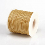 BEIGE 1MM Thailand Waxed Polyester Cord Macrame Bracelet Thread String - 100yds Spool