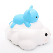 Dacawin(TM) Cat clouds Squishy Slow Rising Phone Strap Kid Fun Toys Squeeze Soft Bread Cake
