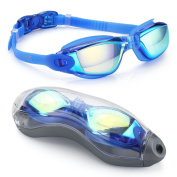 Aegend Swim Goggles, Swimming Goggles No Leaking Anti Fog UV Protection Triathlon Swim Goggles with Free Protection Case for Adult Men Women Youth Kids Child, 8 choices
