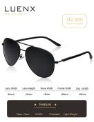 LUENX Aviator Sunglasses Polarised for Men Women with Sun Glasses Case - UV 400
