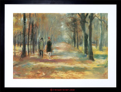PAINTING URY COUPLE WALKING WOODS OLD MASTER FRAMED PICTURE ART PRINT F97X9606