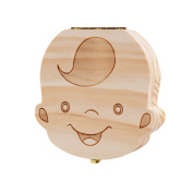 Teeth Boxes, Lance Home Wooden Cartoon Pattern Baby Save Organiser Milk Tooth Wood Storage & Souvenir Box For Kids
